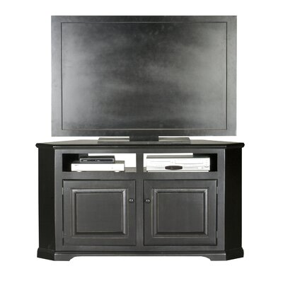 Verna 57 TV Stand Door Type: Wood, Color: Black