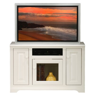 Verna TV Stand Finish: Soft White, Door Type: Glass