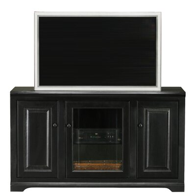 Verna 55 TV Stand Door Type: Glass, Color: Black