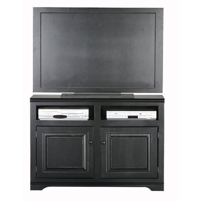 Verna 45.5 TV Stand Door Type: Wood, Color: Black