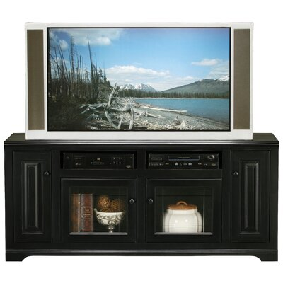 Verna 66 TV Stand Door Type: Glass, Color: Black