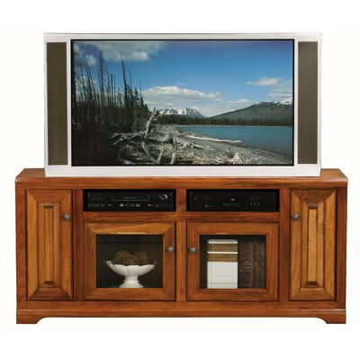 Verna 66 TV Stand Door Type: Glass, Color: Havana Gold