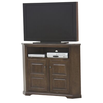 Verna TV Stand Finish: European Cherry, Door Type: Plain Glass