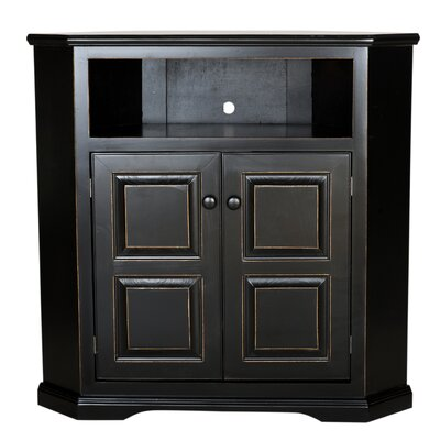 Verna Corner TV Stand Finish: Concord Cherry, Door Type: Raised Panel