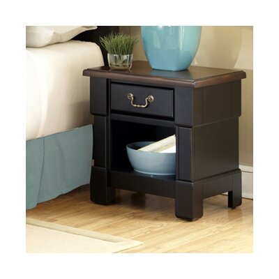 Cargile 1 Drawer Nightstand Finish: Rustic Cherry / Black