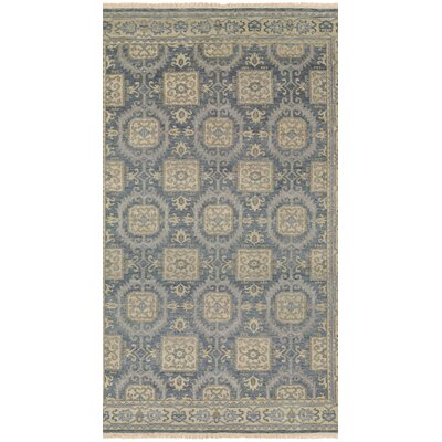 Brian Hand-Knotted Blue/Beige Area Rug Rug Size: Runner 23 x 83