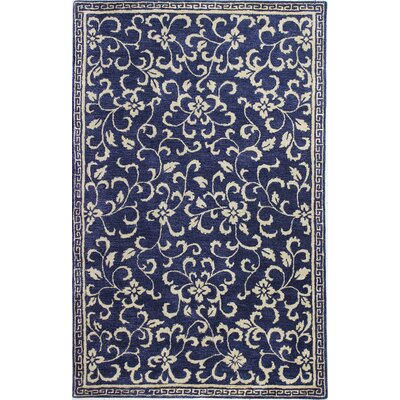 Georgianna Hand-Tufted Navy Area Rug Rug Size: 79 x 99