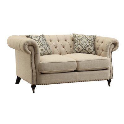 Foreside Chesterfield Loveseat
