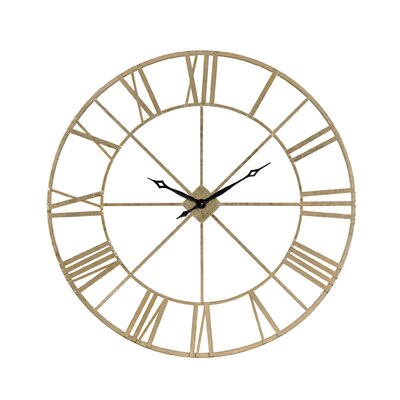 "Oversized Round Gold 48"" Wall Clock DBYH8103 38022134"