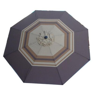 Nadine 8 Decorative Market Umbrella Fabric: Striped Blue