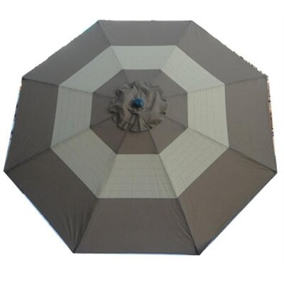 Nadine 8 Decorative Market Umbrella Fabric: Striped Grey