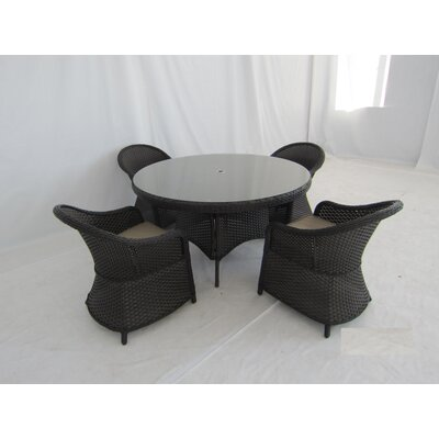 Gertie 5 Piece Dining Set with Cushions