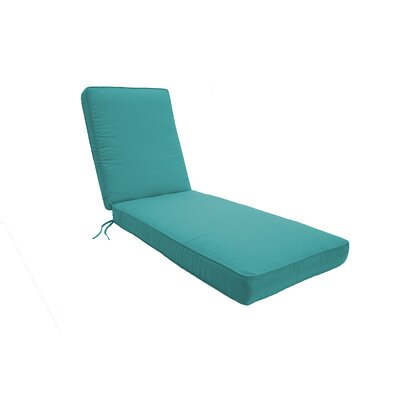 Double Piped Chaise Lounge Cushion Size: Small, Fabric: Aruba