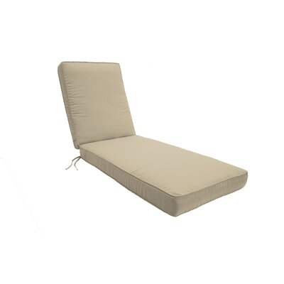 Double Piped Chaise Lounge Cushion Size: Small, Fabric: Antique Beige