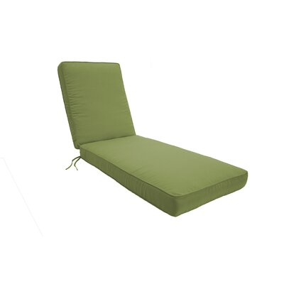 Double Piped Chaise Lounge Cushion Size: Small, Fabric: Cilantro