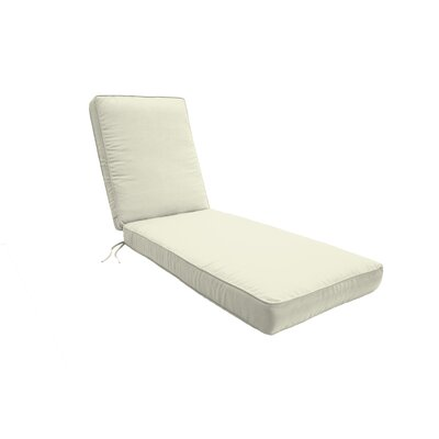 Double Piped Chaise Lounge Cushion Fabric: Natural, Size: Large