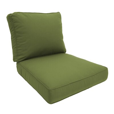 Double Piped Lounge Chair Cushion Fabric: Cilantro, Size: Large