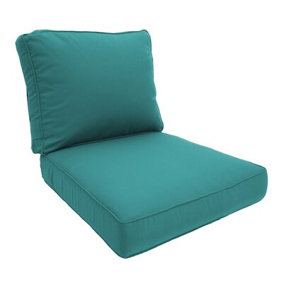 Double Piped Lounge Chair Cushion Fabric: Aruba, Size: Small