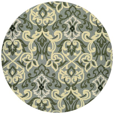 Union Hand-Knotted Sage Indoor/Outdoor Area Rug Rug Size: Round 710