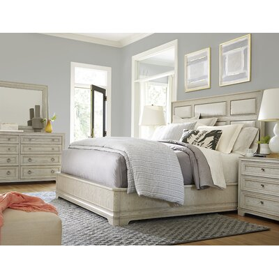 Fredric Upholstered Panel Bed Size: King, Color: Malibu