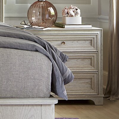 Dianna 3 Drawer Nightstand Finish: Malibu