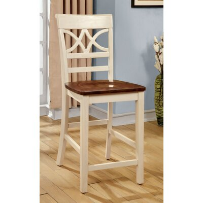 Paulette 24.13 Bar Stool Finish: Cream White