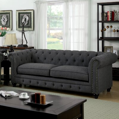 Lindstrom 90  Chesterfield Sofa Upholstery: Gray