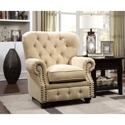 Lindstrom Arm Chair Finish: Ivory