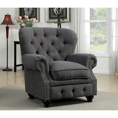 Lindstrom Tufted Arm Chair Finish: Gray