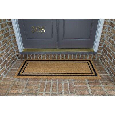 Magner Classic Border Double Door Doormat Size: 24 W x 60 L
