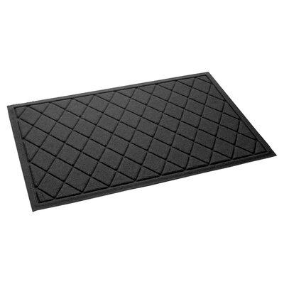 Aqua Gretchen Argyle Doormat Color: Charcoal