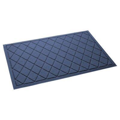 Aqua Gretchen Argyle Doormat Color: Navy