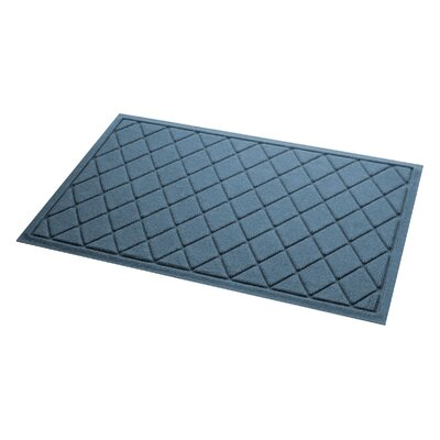 Aqua Gretchen Argyle Doormat Color: Bluestone