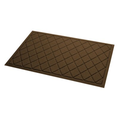 Aqua Gretchen Argyle Doormat Color: Dark Brown