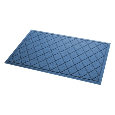Aqua Gretchen Argyle Doormat Color: Medium Blue