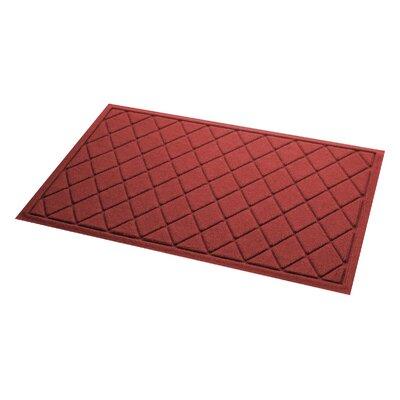 Aqua Gretchen Argyle Doormat Color: Red