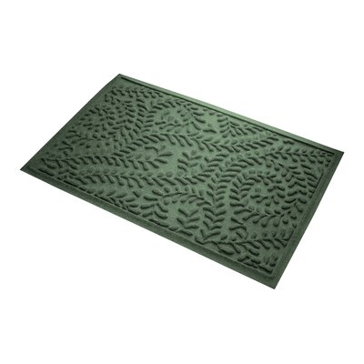 Aqua Gretchen Boxwood Doormat
