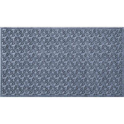 Aqua Gretchen Dogwood Leaf Doormat