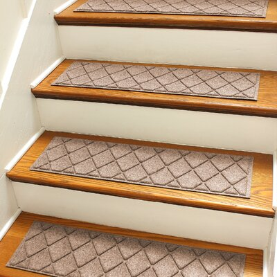 Aqua Gretchen Medium Brown Argyle Stair Tread