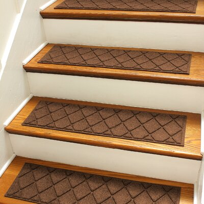 Aqua Gretchen Dark Brown Argyle Stair Tread