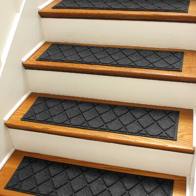 Aqua Gretchen Charcoal Argyle Stair Tread