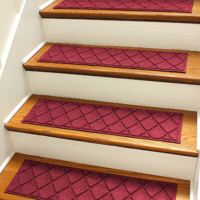 Aqua Gretchen Red/Black Argyle Stair Tread