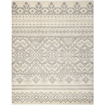 Allensby Ivory & Silver Area Rug Rug Size: 8 x 10