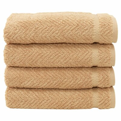 Herringbone Weave 100%Turkish Cotton Hand Towel Color: Warm Sand