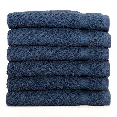 Herringbone Weave 100% Turkish Cotton Wash Cloth Color: Midnight Blue