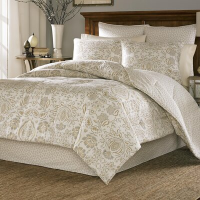Tasha 4 Piece Reversible Comforter Set Size: King