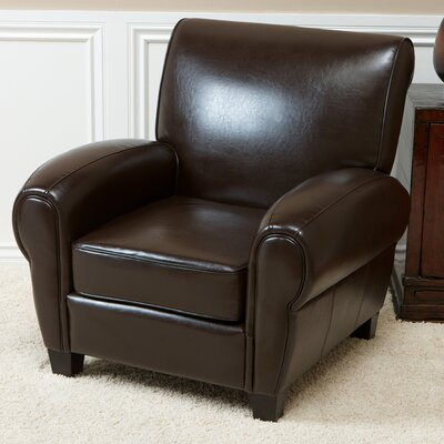 Miranda Club Chair Color: Chocolate Brown