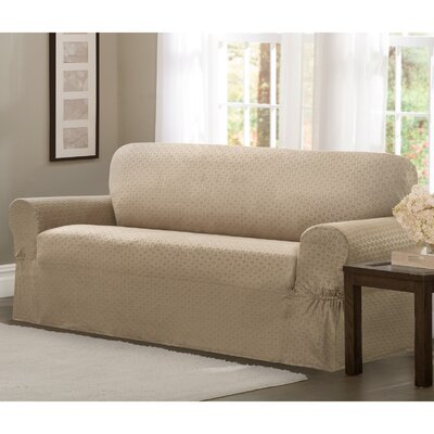 Loveseat T-Cushion Slipcover Upholstery: Sand
