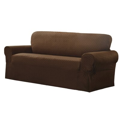 Sofa Box Cushion Slipcover Upholstery: Chocolate