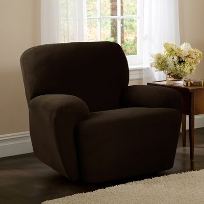 4 Piece Recliner Slipcover Upholstery: Chocolate
